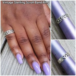 Vintage Sterling Scroll Band Ring